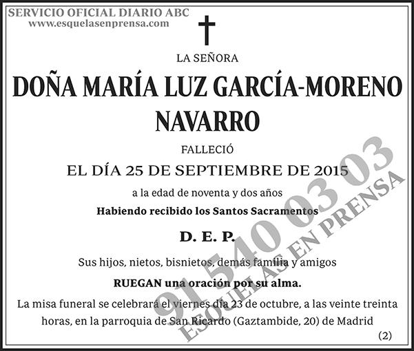 María Luz García-Moreno Navarro